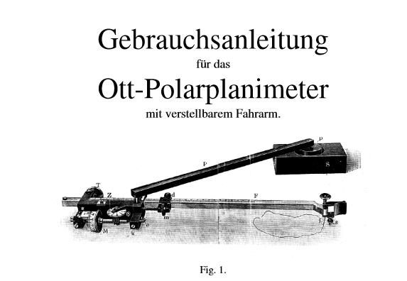 Ott Polar Planimeter 49539  Gebrauchsanweisung Fig1